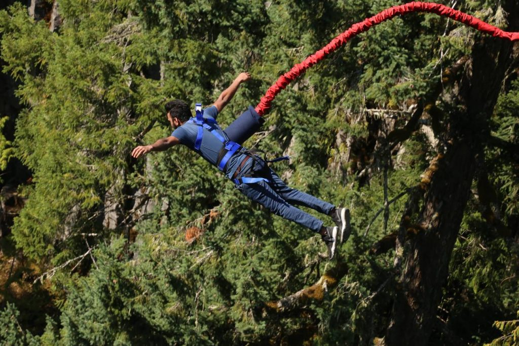 best places to bungee jumping in India
