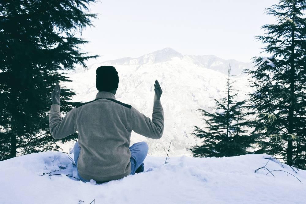 Snowfall in Shimla India