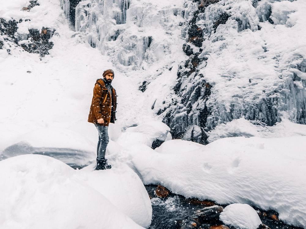 snowfall in Gulmarg india