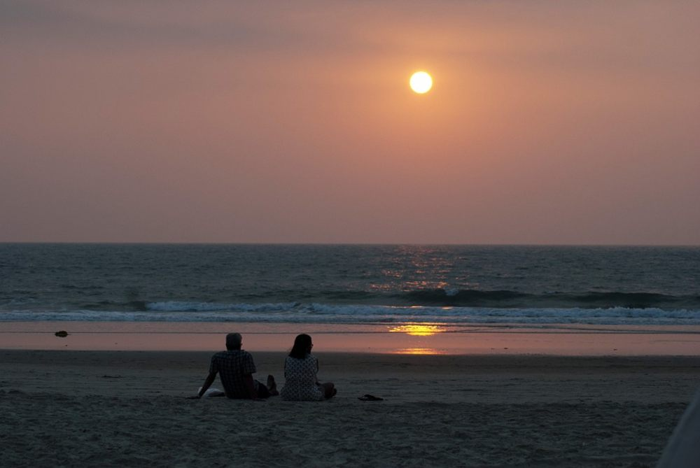 goa, beach, sunset