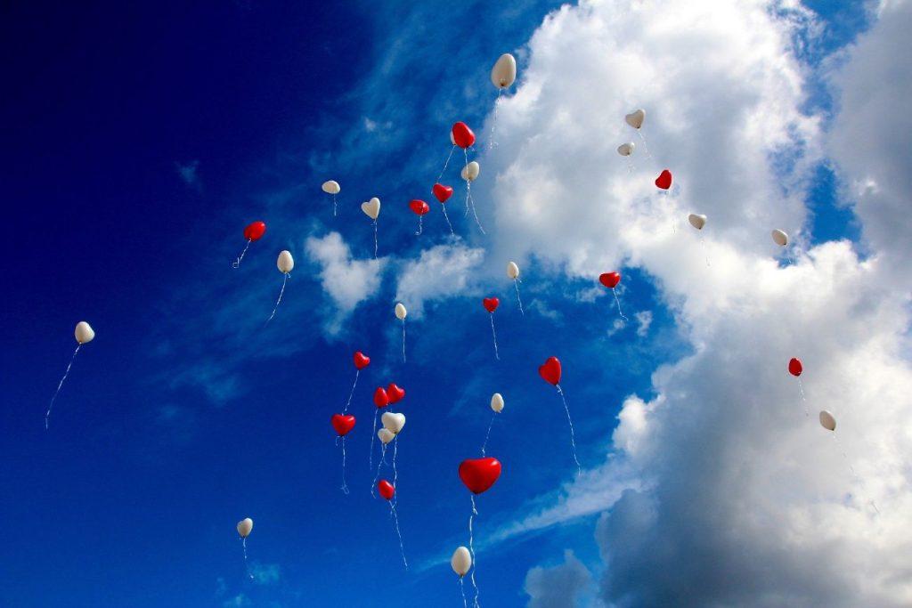 romantic, balloons