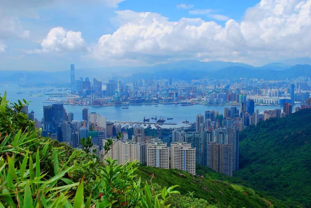 buildings, sky, Hong Kong