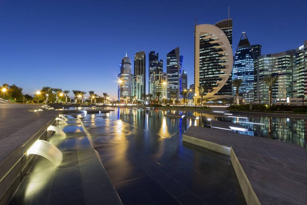 Qatar, buildings, lighting
